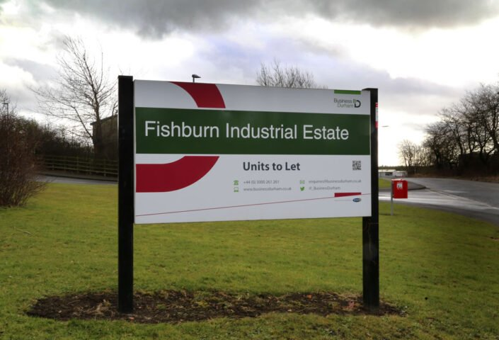 Industrial space in Fishburn from 3,003 sq ft to 7,699 sq ft.