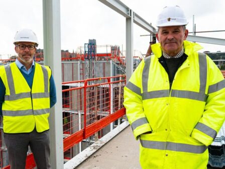 Aycliffe steel work for hotel completed at huge Milburngate development