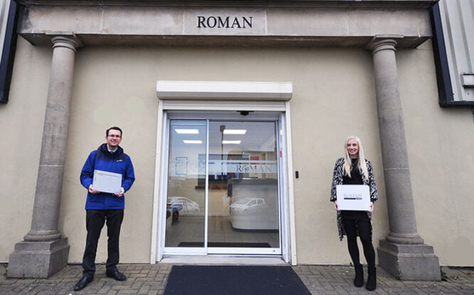 Roman supports hospice with donation of goods
