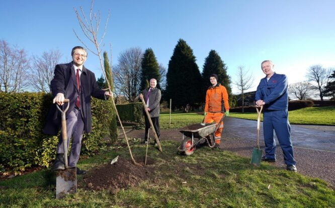 100 Cherry Trees Planted In Commemoration Of Japan And The UK's 150 Years Of Friendship